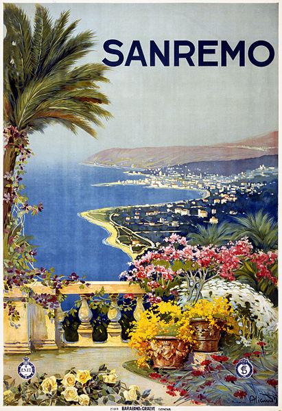 File:Flickr - …trialsanderrors - San Remo, travel poster for ENIT, ca. 1920.jpg