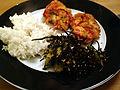 Flickr - cyclonebill - Fiskefrikadeller med ris og tangsalat.jpg