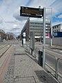 Flip-dot display at 'Hauszmann Alajos utca' tram stop, 2019 Kelenföld.jpg