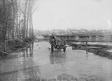 Flooding in Tincourt-Boucly April 1917 IWM Q 1985.jpg