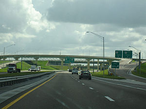 Florida's Turnpike - Florida's Turnpike southbound at the interchange with State Road 429 in Ocoee, Exit 267A