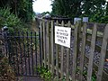 Footpath access to Dunster station from Sea Lane level crossing - geograph.org.uk - 1702664.jpg