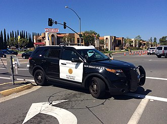San Diego Police Department - San Diego Police SUV in Mira Mesa