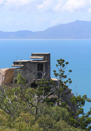 """Magnetic Island - The observation post overlooking Cleveland Bay, """"Magnetic Battery"""""""