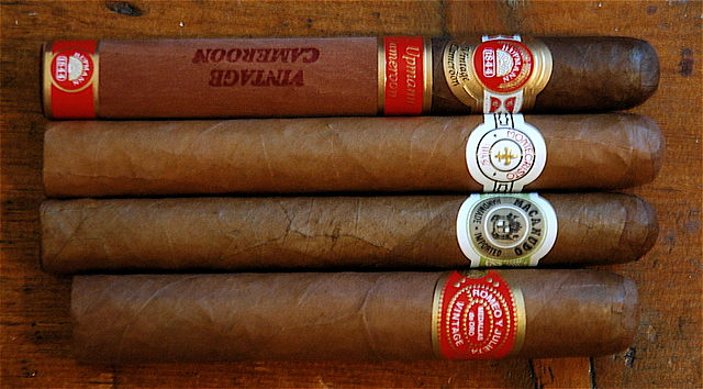 Luxury cigars, 4 different varieties