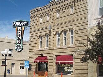 Fowler, Colorado - Image: Fowler, CO, State Bank IMG 5641
