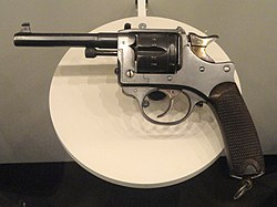 France service revolver, Model 1892, 8 mm - National World War I Museum - Kansas City, MO - DSC07474.JPG