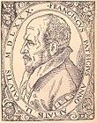 Porträt Patrizis, Kupferstich von 1580