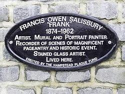 Photo of Francis Owen Salisbury black plaque
