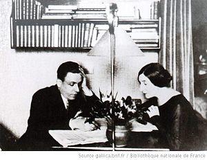 English: Wanda Landowska (1879-1959) and Franç...