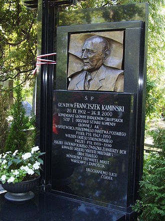 Bataliony Chłopskie - Grave of Franciszek Kamiński, the commander of BCh, at the Powązki Cemetery in Warsaw.