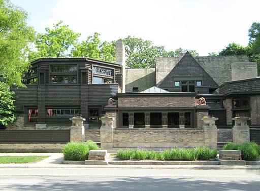 Frank LLoyd Wright Studio Chicago Frontage