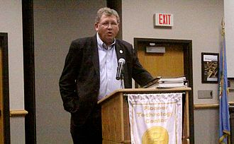 Frank Lucas (Oklahoma politician) - Oklahoma Congressman Frank Lucas speaks at a town hall meeting held in the Pioneer Technology Center in Ponca City, Oklahoma on September 26, 2011.