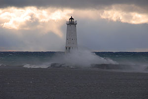 English: Frankfort Light in Frankfort, Michiga...