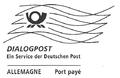 Frankiervermerk Dialogpost, Deutsche Post, Port payé.png