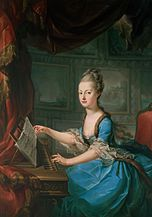 Marie Antoinette on the clavichord, shortly before her marriage, attributed to Franz Xaver Wagenschön
