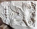 Fregio con grifone in marmo, dal foro di traiano, 98-117 dc ca. 02.JPG