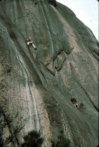 Henry Barber (rock climber) - Henry Barber and Lyle Closs on first free ascent of Incipience at Coles Bay, Tasmania, 1975
