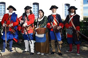 Miquelet (militia) - Catalan miquelets and civilian during War of the Spanish Succession