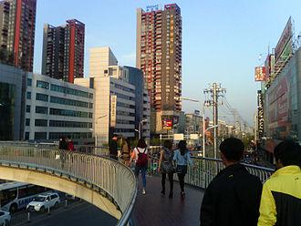 Fuyang - Image: Fuyang Anhui Downtown Area Walkway