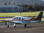 G-EGVA Piper Cherokee Arrow 28R (29948141845).jpg