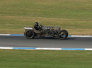 GN (car) - Richard Scaldwell's JAP-engined GN Grand Prix special at the VSCC SeeRed race meeting, Donington Park, September 2007. The GN has a 5.1 litre V8 aero-engine shoehorned into its lightweight cyclecar frame.