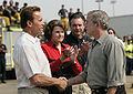 GW. Bush shakes hands with A. Schwarzenegger, Oct. 25, 2007.jpg