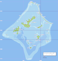 Location within the Gambier Islands
