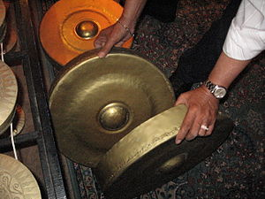 Gandingan - Gandingan gongs placed one inside the other