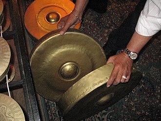 Gandingan - Gandingan gongs placed one inside the other
