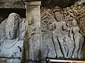 Gangadhara Cave 1 Sculpture Elephanta Island Mumbai Maharashtra India.jpg