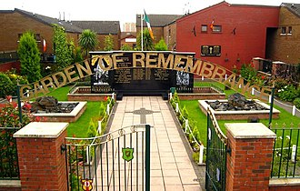 Falls Road, Belfast - Garden of Remembrance, Falls Road.