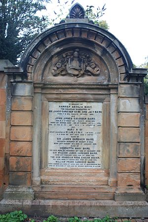 Baird baronets - Gardiner Baird Monument, including the 7th and 8th Baronets, Grange Cemetery