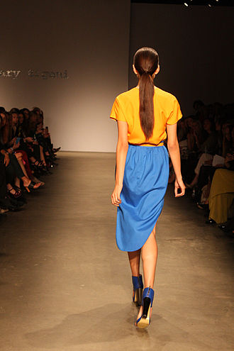 Ponytail - A woman's ponytail from the back