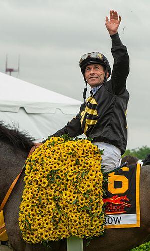 Gary Stevens (jockey) - Gary Stevens at the 2013 Preakness Stakes