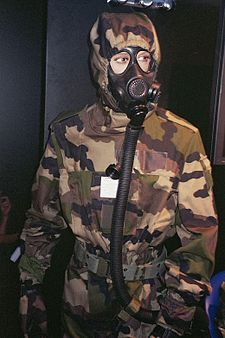 Gas mask used by the French military.