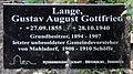Gedenktafel Hönower Str 13 (Mahld) Gustav August Gottfried Lange.jpg