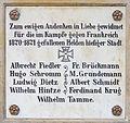 Gedenktafel Königstr (Buckow MS) Deutsch-Französischer Krieg.jpg