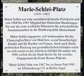 Gedenktafel Marie-Schlei-Platz (Tegel) Marie Schlei.jpg