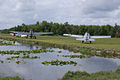 General Motors TBM-3E Avenger Pacific Princess and FM-2 Wildcat Retention pond wide Mustang Meet FOF 17April2010 (14443806820).jpg