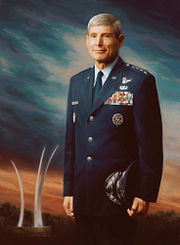 General Norton Schwartz portrait painting for USAF by Michele Rushworth