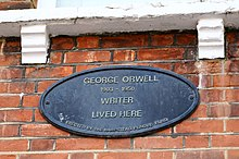 Targa sulla casa di Hampsted, Londra.