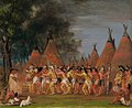 George Catlin - Dance of the Chiefs, Mouth of the Teton River - 1985.66.436 - Smithsonian American Art Museum.jpg