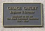 George Cayley Plaque 309 Regent Street.jpg