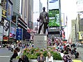 George M Cohan statue and Duffy Square.jpg
