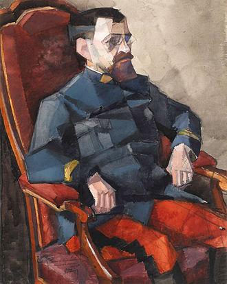 Georges Valmier - Georges Valmier, 1914-15, Portrait de Commandant Lambert, gouache and watercolor over pencil, 63.2 x 50.8 cm, Triton Foundation, Netherlands