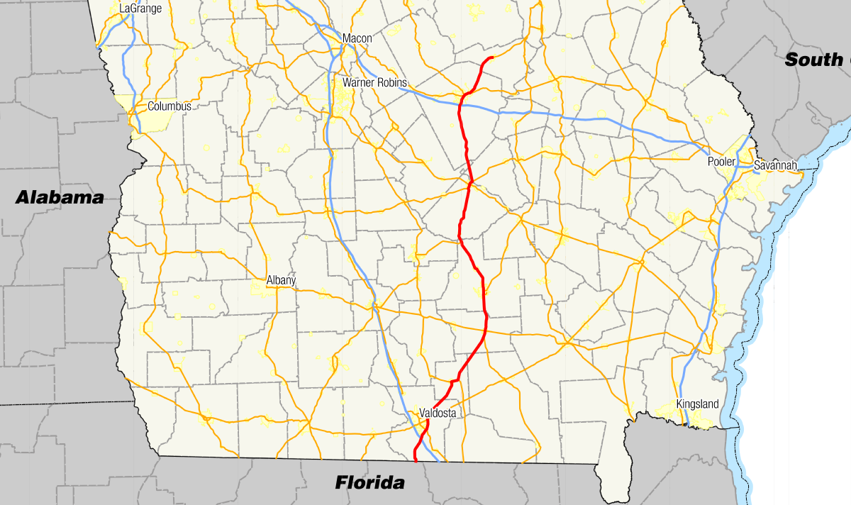 Pearson Georgia Map.Georgia State Route 31 Wikipedia