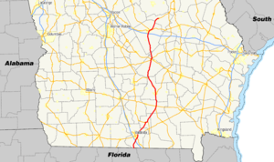 Georgia State Route 31 - Image: Georgia state route 31 map