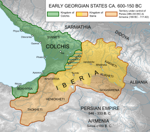 Georgian States Colchis and Iberia (600-150BC)-en.svg