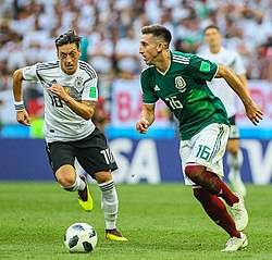 b74b7d17008 Herrera (right) playing against Germany at the 2018 FIFA World Cup